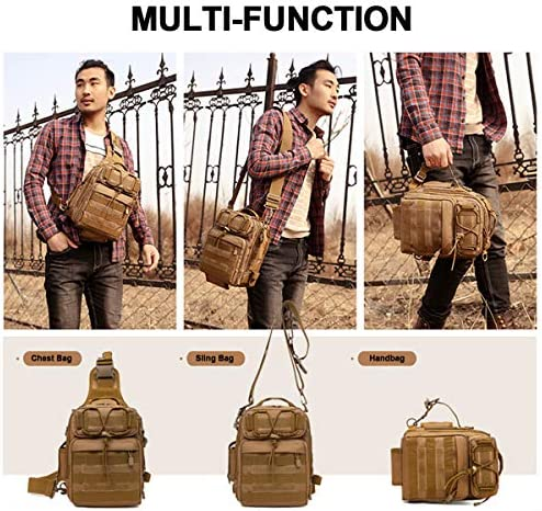 Tactical Sling Backpack Fly Fishing Tackle Bag Unisex MOLLE Casual Daypack