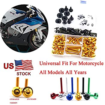 GHMotor BOLTS and WASHERS Fairing Bolts Fasteners Screws Kit Set MADE IN USA for 1994 1995 1996 1997 1998 1999 2000 2001 2002 2003 2004 2005 2006 2007 2008 2009 KAWASAKI EX500 500R Silver