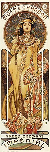 Mucha Art Nouveau Poster - Moet & Chandon Poster by Alphonse Mucha 12 x 36in
