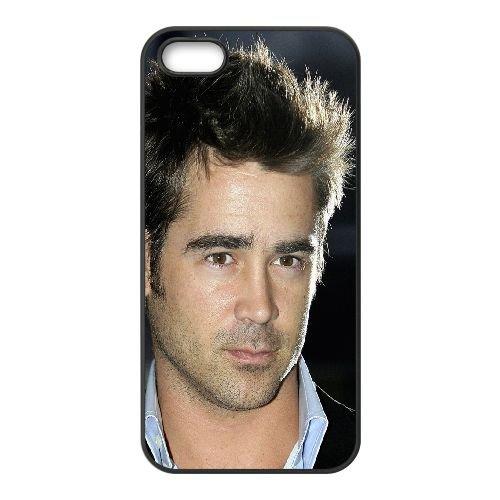 Colin Farrell Man Actor Face Hair Brown Eyed Brunette coque iPhone 5 5S cellulaire cas coque de téléphone cas téléphone cellulaire noir couvercle EOKXLLNCD22948