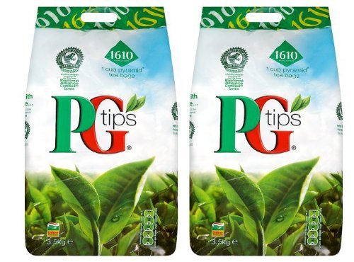 PG Tips 2 X 1610 One Cup Pyramid Tea Bags 3.5Kg by PG Tips