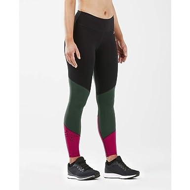 cb66c63e53dcd Amazon.com: 2XU Women's Fitness Mid-Rise Color Block Compression Tight:  Clothing