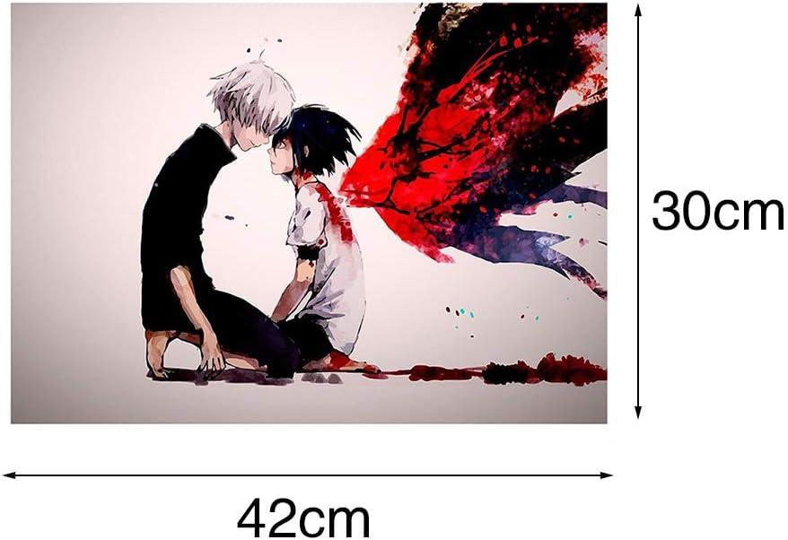 Zhongjiany Kaneki Touka Tokyo Ghoul Anime Dictionnaire Art Print Poster Manga