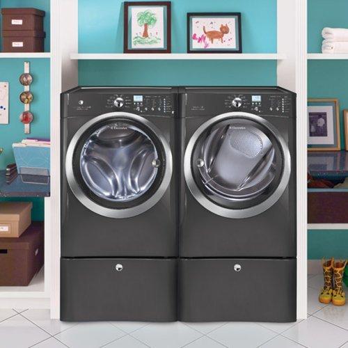 Electrolux Laundry Bundle   Electrolux EIFLS60LT Washer & Electrolux EIMED60LT Electric Dryer w/Pedestals - Titanium