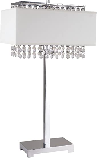 Amazon Com Milton Greens Stars A733wh Shannon Crystal Table Lamp