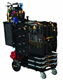 Mobile-Shop MS-CPMC Complete Pre-Loaded with Hand Tools and Small Critical Parts, Black Cart