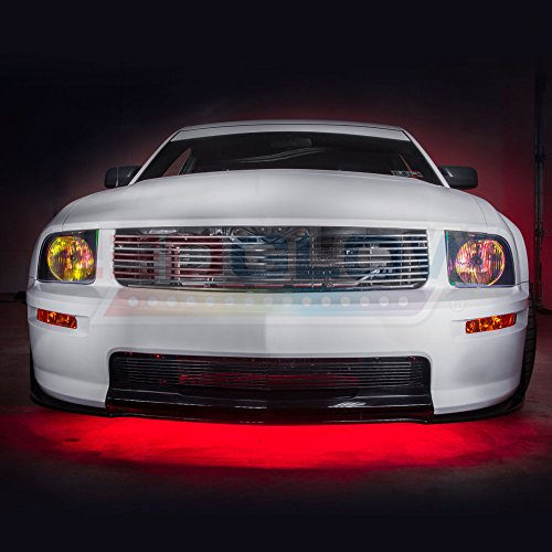 LEDGlow 10pc Million Color Wireless LED Car Underbody and Interior Lighting Kit - 4 Underbody + 6 Interior Tubes - 378 SMD LEDs - 18 Unique Colors - 12 Unique Lighting Patterns