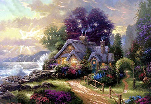 - Diamond Painting Thomas Kinkade 16X20 inches 5D DIY Diamond Painting Full Round Drill Rhinestone Embroidery for Wall Decoration