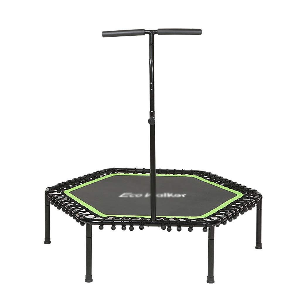 Gartentrampoline Trampolin-Kinder-Fitness-Spielzeug Indoor-Trampolin für Erwachsene Sport-Sprungbett Trampolin-Kinder mit Armlehnen-Sprungbett können 100 kg tragen