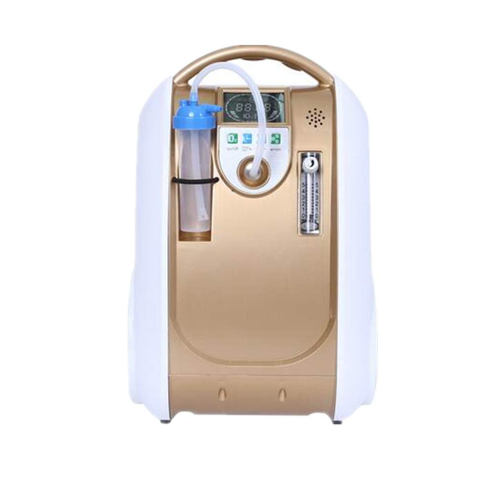 Portable Oxygen Concentrator for Travel 1-5L/min Adjustable Portable Oxygen Machine for Home and Travel Use, AC 110V Humidifiers Gold by Olive