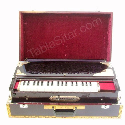 Paul & Co. Harmonium - 3 Reeds, 9 Scale Changer, Dark Mahogany Color - No. 214 by Paul & Co.