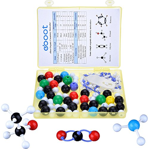 eBoot Organic Chemistry Molecular Model Student Set Molecular Model Kit, 59 Atoms and 77 Bond Parts (Total 136 Pieces)