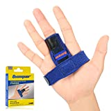 Trigger Finger Splint for Alleviating Finger Locking, Popping, Bending, Stiffness- Tendon Release and Pain Relief from Stenosing Tenosynovitis- Bonus Fastening Tape & Trigger Finger Solutions Booklet