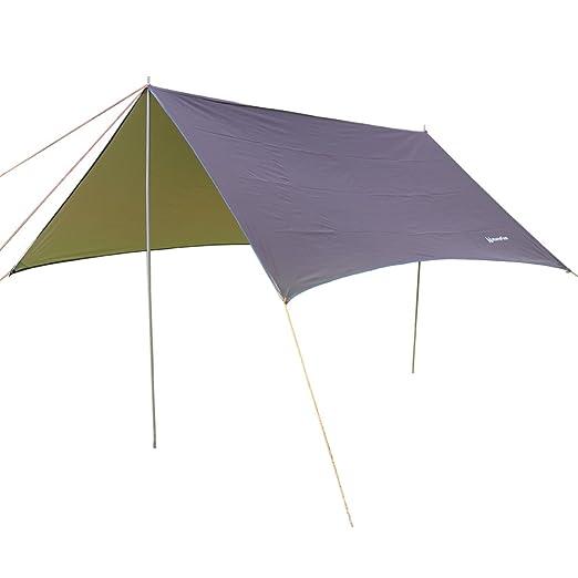 2 opinioni per NatureFun 3*3m Tela Cerata Protezione Parasole Impermeabile Parapioggia, Tela,