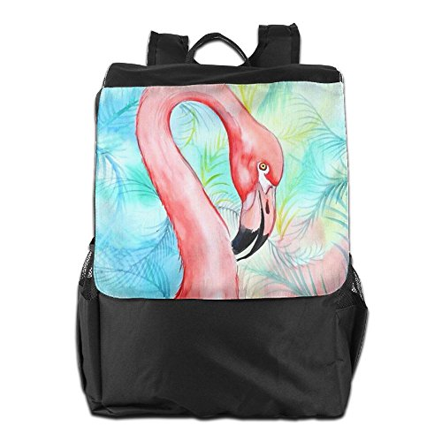 Backpack School and Adjustable Women Flamingo For Shoulder Dayback Storage Pink Outdoors Camping Men Personalized Travel Strap HSVCUY wEZXUX