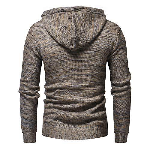 Tricot En Pull Veste Pour À Outwear Kaki Capuche hiver Kinlene Manteau Cardigan Hommes De Automne pUZqEww
