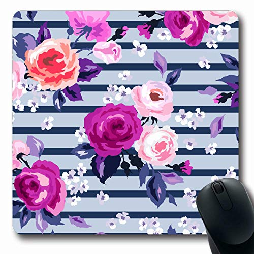 - LifeCO Mouse Pad Drawn Watercolor Pastel Floral Pattern Flower Abstract Elegance Pink Bloom Botanical Bouquet Colors Oblong Shape 7.9 x 9.5 Inches Mousepad for Notebook Computer Mat Non-Slip Rubber