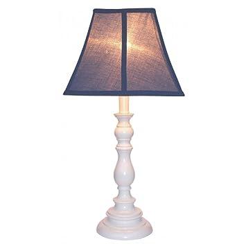 Amazon Com Creative Motion White Base Resin Table Lamp Navy Blue