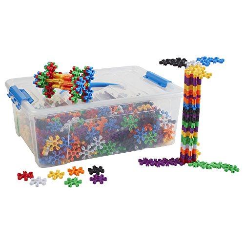 ECR4Kids Super Bloom Snaps Math Manipulatives Building Kit, Educational Sensory Learning Toys for Children (680-Piece Set)