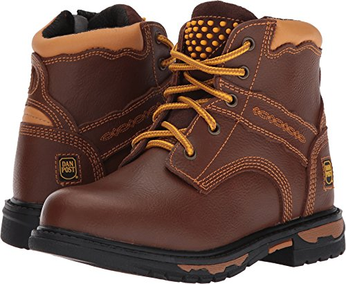 Dan Post Round Boots - Dan Post Boys' Zyon Leather Boot Round Toe Brown 12.5 D(M) US