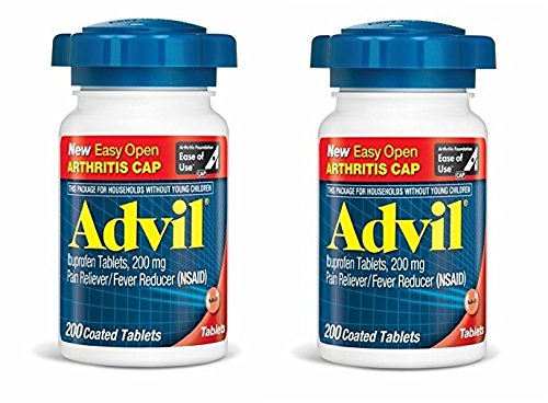 - Advil EZ Open Ibuprofen Tablets, 400 Count 2-bottles of 200 Count