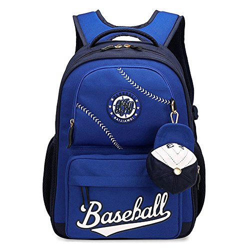 MATMO American Baseball Caps School Bags Children Student Backpack Blue