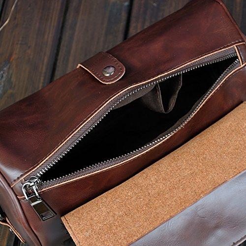 marrón hombre Bolso marrón al para hombro NUBEN Marrón P7q0zAzx