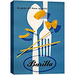 "Epic Graffiti ""Barilla Pasta Vintage Advertisement"" Giclee Canvas Wall Art, 12"" x 18"""