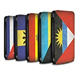STUFF4 PU Leather Wallet Flip Case/Cover for Apple iPhone X/10 / Pack 16pcs Design / Americas Flag Collection