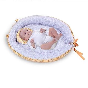Kopfkissen Kuschelbett Reisebett iBaste Babynestchen Kokon Kuschelnest 68cmx52cm Babykokon Abnehmbar Babynest Bett