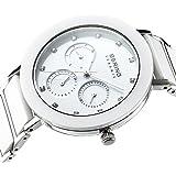 Bering Time - 11438-754 - Montre Femme - Quartz - Analogique - Bracelet Acier Inoxydable  Blanc