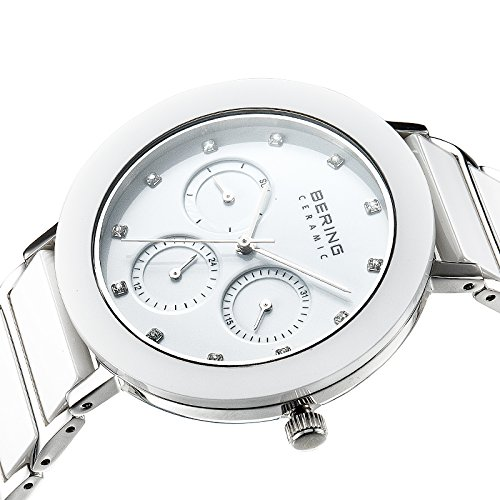 BERING Time 11438-754 Women's Ceramic Collection Watch with Ceramic Link Band and scratch resistant sapphire crystal. Designed in Denmark.