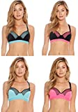 Just Intimates SB20020-32A Racerback Sports Bra/Bras For Women (Pack Of 4)