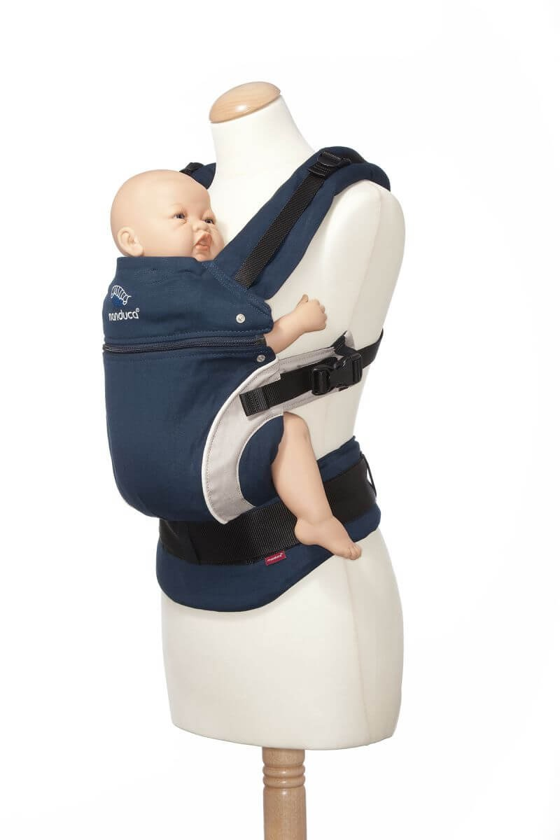 Brown  Ergonomic Baby /& Child Carrier Front Soft /& Sturdy Canvas for Newborn to Toddlers up to 20kg manduca First Baby Carrier  HempCotton Petrol Blue Organic Cotton /& Hemp Hip /& Back Carry