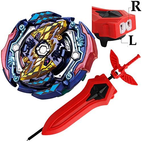 (Bey Battle Burst Evolution Blade Turbo Sword LR Launcher Starter B-142 Booster Judgement Joker .00 T.Tr Zan Gaming Toy Bey Set Battling Top Novelty Spinning Toys Gift for Boys Kids)