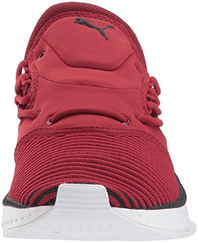 Puma Mannen Tsugi Shinsei Evoknit Sneaker Red Dahlia-puma Black-puma Wit