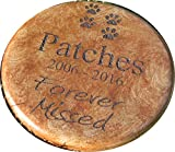 Personalized Engraved Pet Memorial Step Stone 7.5