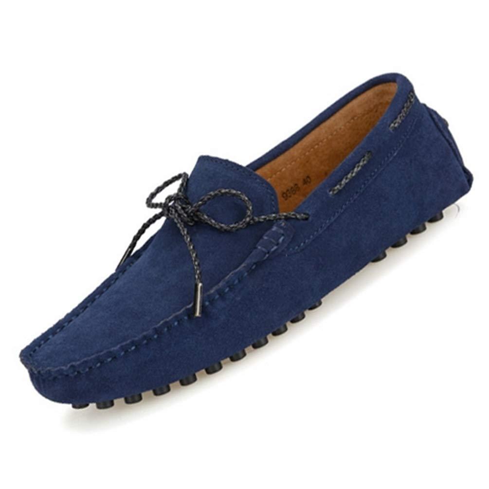 HhGold Style Homme Mocassin Solide pour Adultes Mocassins Chaussures De Conduite (coloré : Bleu foncé, Taille : 4.5=38 EU)