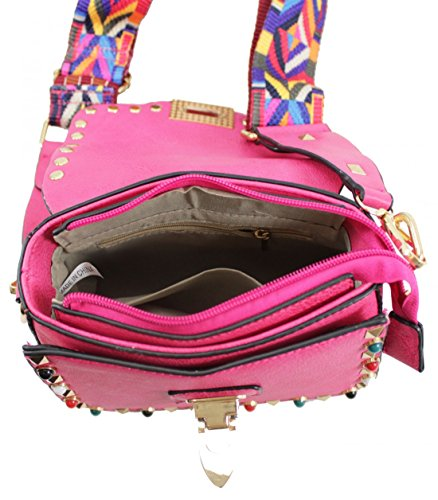 Craze Women Multicolored shoulder Bags fashionable the Long Bag London Long Brown Womens cross Brande handbag Shoulder For Strap Body Strap Ladies bags women's rqTrRC