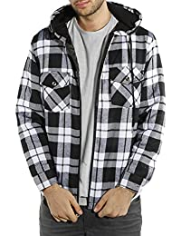 Men's Classic Flannel Plaid Hooded Jacket