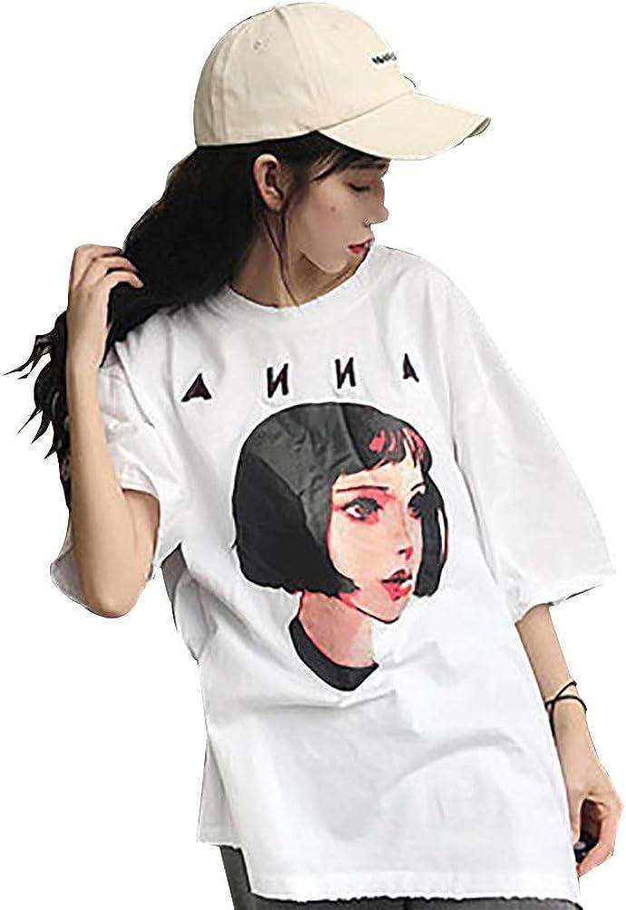 YUFAA Camisa de Estilo Coreano de Gran tamaño para ...
