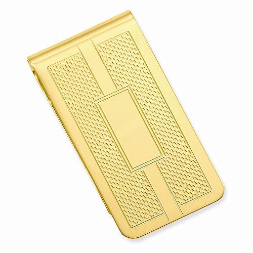 Honey Comb Gold Square amp; Clip Plated Engravable 14k Money EqvRTdgngW