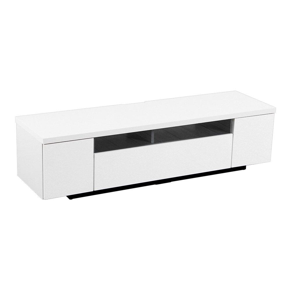 完成品テレビ台テレビボード ホワイト 幅140cm(日本製鏡面)シンプルで美しいスタイリッシュ! B01N2XZI2R 幅140cm ホワイト ホワイト 幅140cm