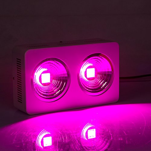 Roleadro HYG05-2X200W-W COB LED Grow Light Full Spectrum for Hydroponic Indoor Plant Veg & Bloom, 400W