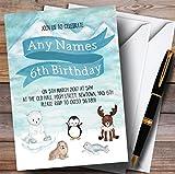 Polar Ice Animals Childrens Birthday Party Invitations