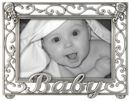 Scroll New Baby Picture Frame