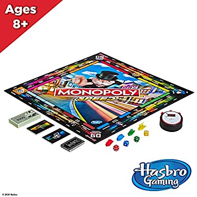 Monopoly Speed Board Game, Play in Under 10 Minutes, Fast-Playing Board Game for Ages 8 and Up, Game for 2-4 Players: Toys & Games