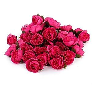 KODORIA 30pcs Artificial Rose Flower Rose Flower Heads Craft Home Wedding Party Decoration - Rose Red 106