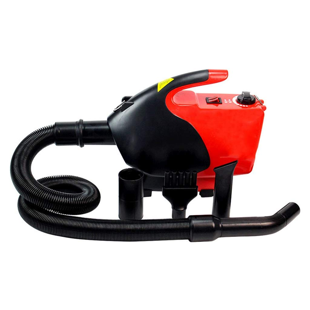 Red SN 2500W High Velocity Hairdryer, A Powerful But Quiet Dog Dryer With 5 Different Nozzles Professional Grooming Adjustable Wind Speed Temperature (color   Red)
