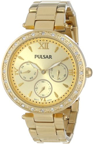 Pulsar Women's PP6106 Analog Display Japanese Quartz Gold Watch